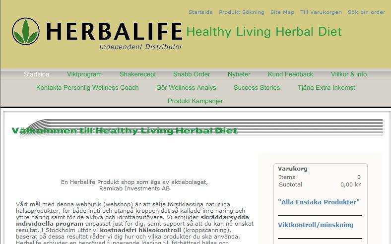 Oberoende Herbalife Distribut�r - viktminskning med Herbalife Produkter - http://www.healthylivingherbaldiet.com